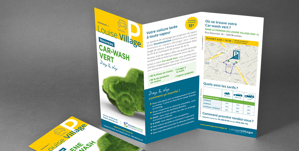 Leaflet Car-wash louise Village